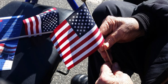 Didi Wayland attended the 2015 Veterans Day celebration at Town Hall