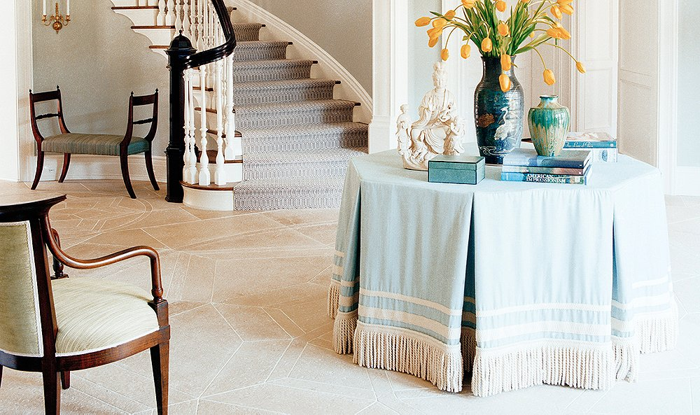 Make A Good Impression With Fabric Covered Table