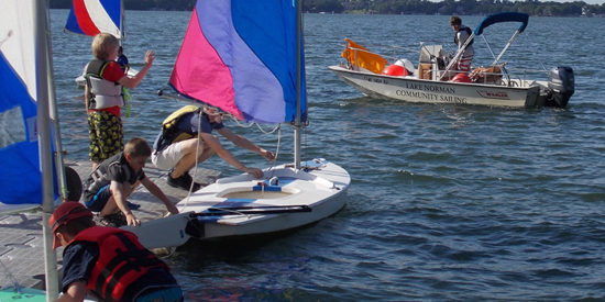 Lake Norman Community sailing offers water-sport summer sessions from Blythe Landing