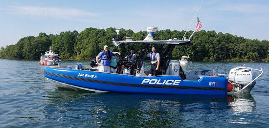 Police Boat Side View