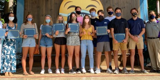 Graduates of the Lake Norman Chamber's Junior Leadership Lake Norman and Chamber Board Chair Richard Pappas. Not pictured are: Nathan Adams, Jack Bradford, Sophie Doherty, and Clara Scruggs. Photo: LKN Chamber.