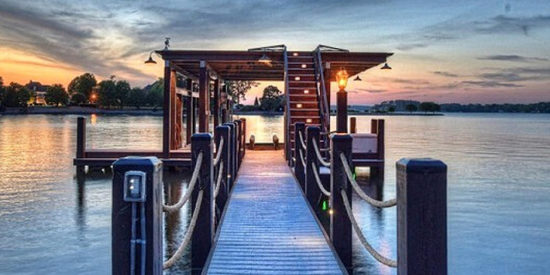 This is the helipad at a $6.8 million residential listing on Lake Norman/JamesEdition photo