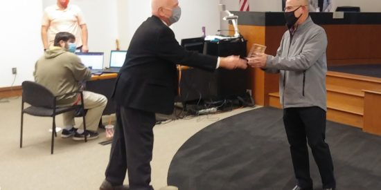 MANNY ROSADO RECEIVES MAYORS AWARD FOR EXCELLENCE