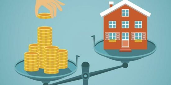 money_and_house_on_the_scale