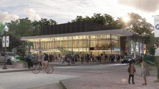 Cain Center Exterior at Dusk web