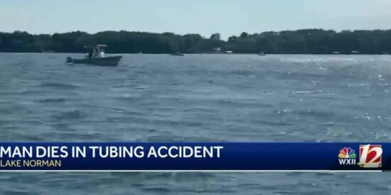 A man drowned while tubing on Lake Norman in late June. Photo: WXII