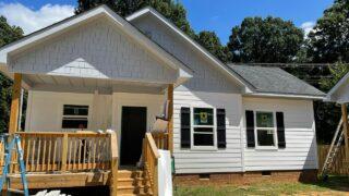 Finishing touches on Hope House Cottages